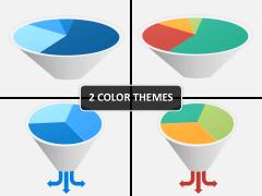 Funnel pie chart PPT cover slide