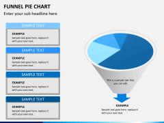 Funnel pie chart PPT slide 1