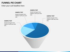 Funnel pie chart PPT slide 6