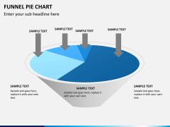 Funnel pie chart PPT slide 7