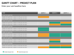 Gantt charts PPT slide 20