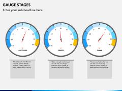 Gauge stages PPT slide 2