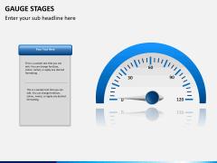 Gauge stages PPT slide 3