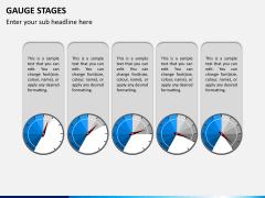 Gauge stages PPT slide 5
