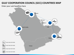 Gulf council map PPT slide 10