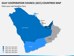 Gulf council map PPT slide 11