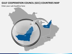 Gulf council map PPT slide 13
