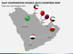 Gulf council map PPT slide 3