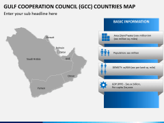 Gulf council map PPT slide 4