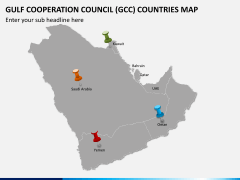 Gulf council map PPT slide 7