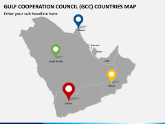 Gulf council map PPT slide 8