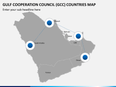 Gulf council map PPT slide 9