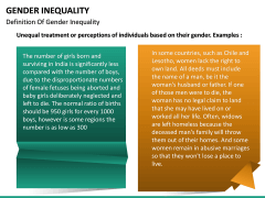 Gender Inequality PPT slide 12