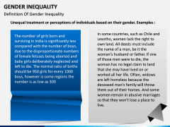Gender Inequality PPT slide 2