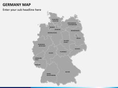 Germany map PPT slide 1