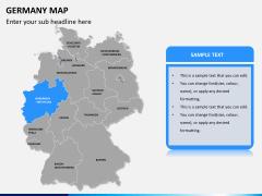 Germany map PPT slide 10