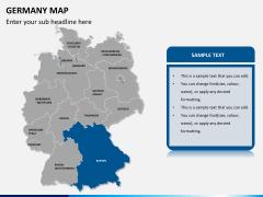 Germany map PPT slide 11