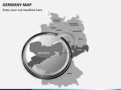 Germany map PPT slide 13