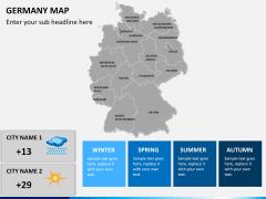 Germany map PPT slide 19