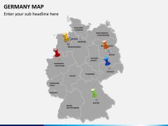 Germany map PPT slide 3