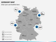 Germany map PPT slide 6