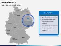 Germany map PPT slide 8