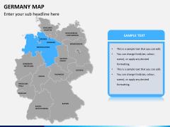 Germany map PPT slide 9