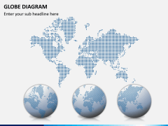 Globe diagram PPT slide 3