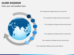 Globe diagram PPT slide 5