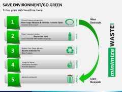 Save environment/go green PPT slide 1