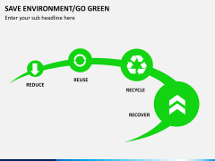 Save environment/go green PPT slide 3