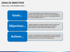 Goals and objectives PPT slide 8