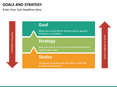 Goals and Strategy PPT slide 18