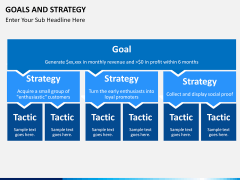 Goals and Strategy PPT slide 1