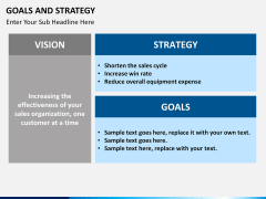 Goals and Strategy PPT slide 6
