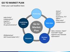 Go to market plan PPT slide 1