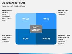 Go to market plan PPT slide 3