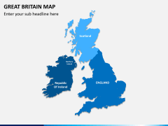Great britain map PPT slide 1