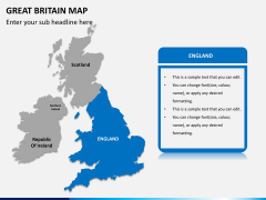 Great britain map PPT slide 10