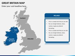 Great britain map PPT slide 11