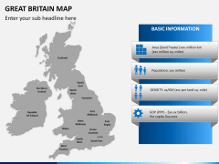 Great britain map PPT slide 17
