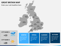 Great britain map PPT slide 18