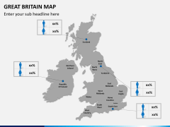 Great britain map PPT slide 19