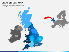 Great britain map PPT slide 2
