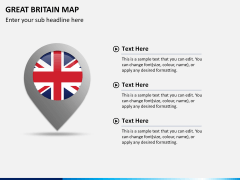 Great britain map PPT slide 21