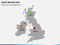 Great britain map PPT slide 7