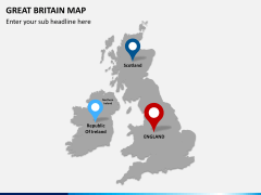 Great britain map PPT slide 8
