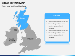 Great britain map PPT slide 9
