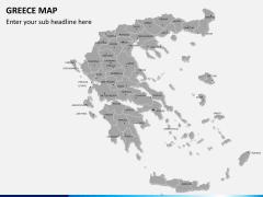 Greece map PPT slide 1