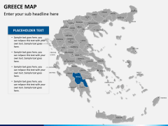 Greece map PPT slide 10